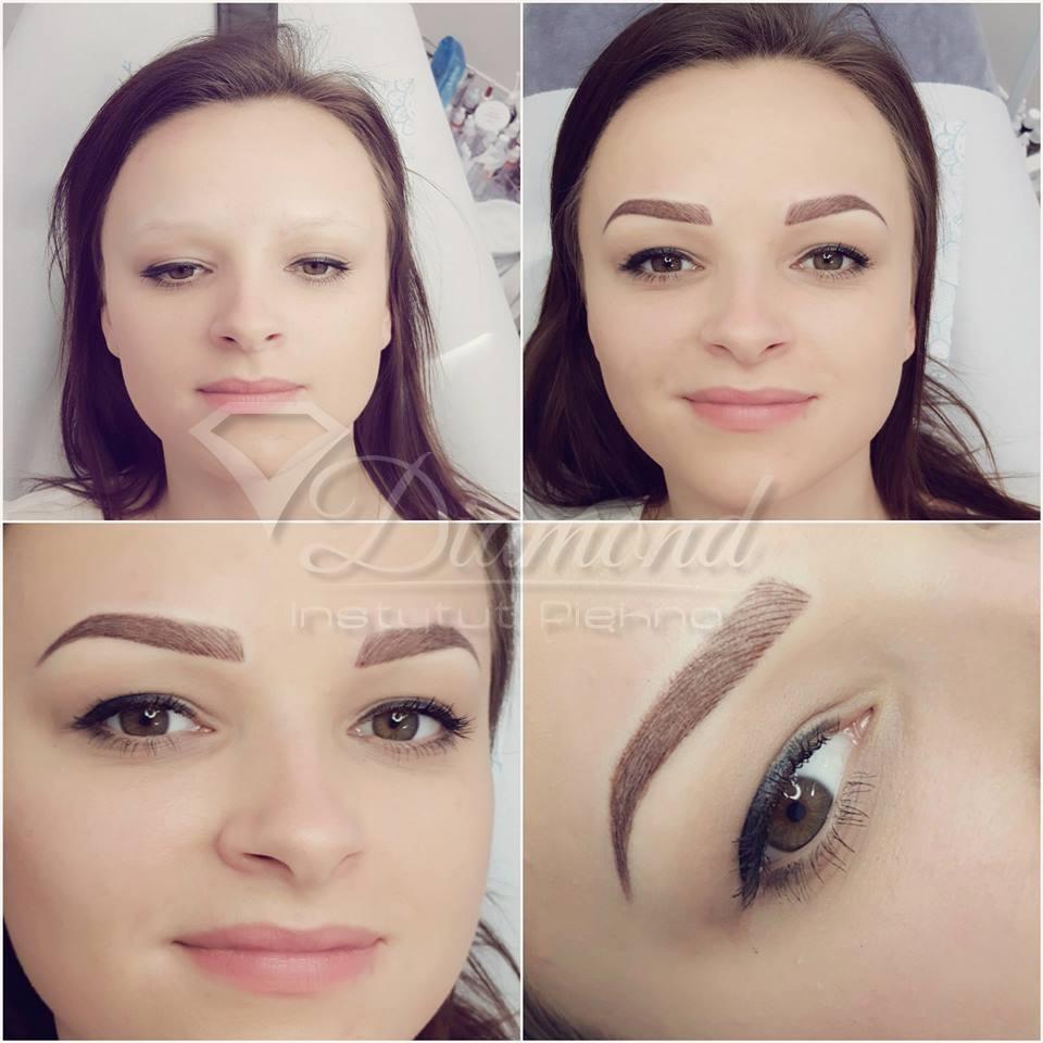 Makijaż Permanentny Brwi W Instytucie Piękna Diamond